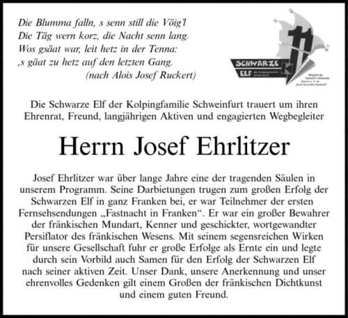 † Josef Ehrlitzer